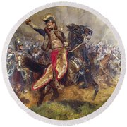 General Antoine-charles-louis Lasalle Round Beach Towel