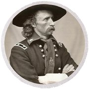 General Custer Round Beach Towel