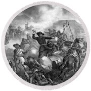 General Custer's Death Struggle  Round Beach Towel