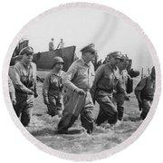 General Douglas Macarthur Returns Round Beach Towel by War Is Hell Store