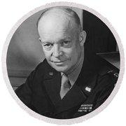 General Dwight Eisenhower Round Beach Towel