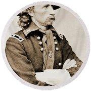 General George Custer Round Beach Towel