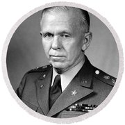 General George Marshall Round Beach Towel by War Is Hell Store