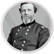 General George Thomas Round Beach Towel by War Is Hell Store