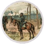 General Grant, Battle Of Shiloh, 1862 Round Beach Towel
