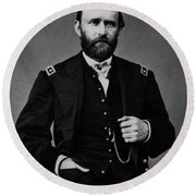 General Grant During The Civil War Round Beach Towel