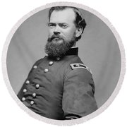 General James Mcpherson  Round Beach Towel by War Is Hell Store