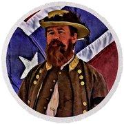 General Jeb Stuart Of Vmi Round Beach Towel