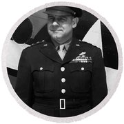 General Jimmy Doolittle Round Beach Towel by War Is Hell Store