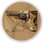 General Patton's Model 1873 Colt 45 Revolver  Round Beach Towel