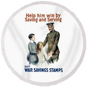 General Pershing - Buy War Saving Stamps Round Beach Towel