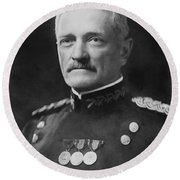 General Pershing Round Beach Towel by War Is Hell Store
