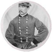 General Sheridan Civil War Portrait Round Beach Towel