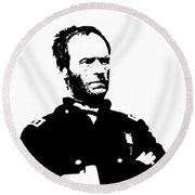 General Sherman Round Beach Towel