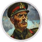 General Sir Alan Cunningham Round Beach Towel