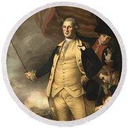 General Washington At The Battle Of Princeton Round Beach Towel