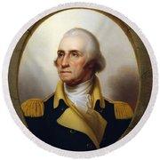 General Washington - Porthole Portrait  Round Beach Towel