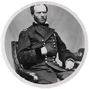 General William Sherman Round Beach Towel by War Is Hell Store