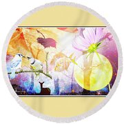Genesis Collage Round Beach Towel