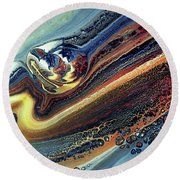 Genesis Of Decay Urban Abstract Round Beach Towel