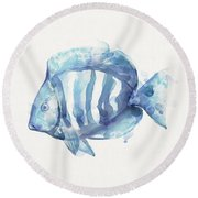 Gentle Fish Round Beach Towel