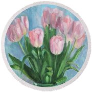 Gentle In The Simple Round Beach Towel