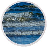 Gentle Roll Of The Waves Round Beach Towel