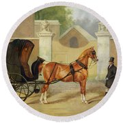 Gentlemen's Carriages - A Cabriolet Round Beach Towel