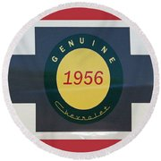 Genuine 1956 Chevrolet Round Beach Towel