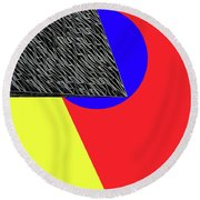 Geo Shapes 4a Round Beach Towel