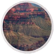 Geological Formations North Rim Grand Canyon National Park Arizona Round Beach Towel