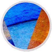 Geometric 2b  Abstract Round Beach Towel