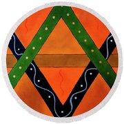 Geometric Abstract II Round Beach Towel