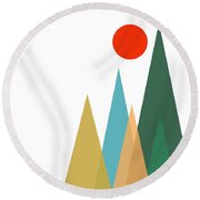 Geometric Art 121 Round Beach Towel