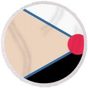 Geometric Art 123 Round Beach Towel