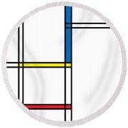 Geometric Art 344 Round Beach Towel