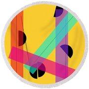Geometric Art 419 Round Beach Towel
