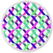 Geometric Crosses Round Beach Towel