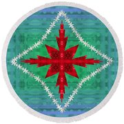 Geometric Fantasy Round Beach Towel