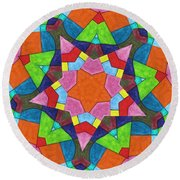 Geometric Pattern 1 Round Beach Towel