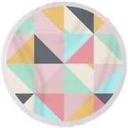 Geometric Pattern Xv Round Beach Towel