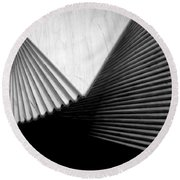 Geometric Shapes And Stairs Round Beach Towel