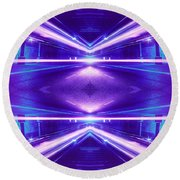 e63f92b25 Geometric Street Night Light Pink Purple Neon Edition Round Beach Towel