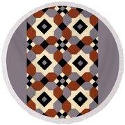 Geometric Textile Design Round Beach Towel