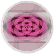 Geometrical Colors And Shapes 4 - Hearts Round Beach Towel