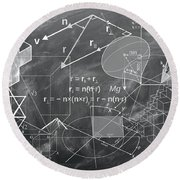 Geometry Round Beach Towel