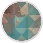 Geomix 03 - S123bc04t2a Round Beach Towel by Variance Collections