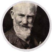 George Bernard Shaw Author Round Beach Towel