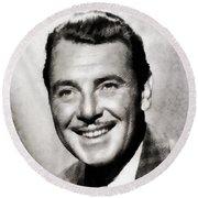 George Brent, Vintage Actor Round Beach Towel