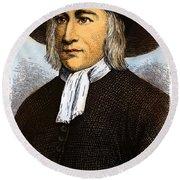 George Fox, 1624-1691 Round Beach Towel